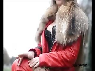 Julie Skyhigh In Red High Heel Boots