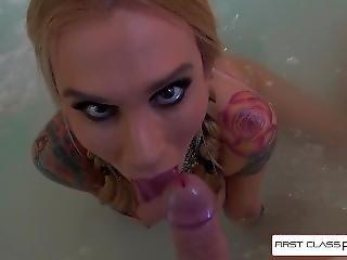 Sexy Sarah Jessie Suking A Huge Cock, Big Boobs & Big Booty - Firstclasspov