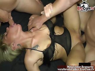 German Mom Stacy Deep At Extreme Cum Creampie Sexparty