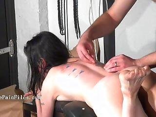Kinky Blowjob And Needle Piercing Of Brutal Bondage Babe In Dungeon