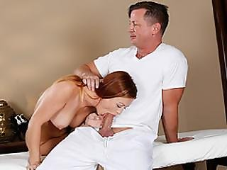 Poor Karlie Gets To Suck Masseuse Cock After Getting Tricked At Spa