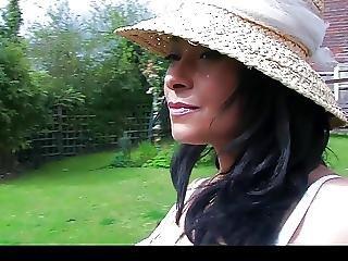 Donna Ambrose Aka Danica Collins In The Garden
