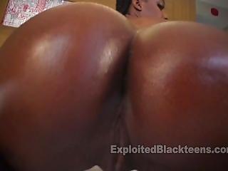 Ebony Girl W Bubble Black Ass In Amateur Video