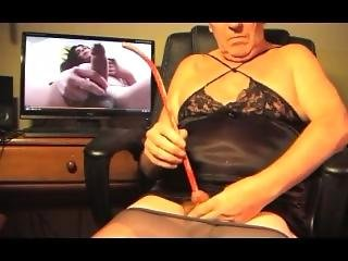 Shemale Transvestite Dildo Sounding Urethral Lingerie Boy 9