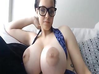 Slut With Huge Natural Tits Teasing Big Cocks