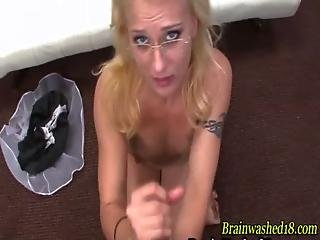 Hypnotized Teen Gives Handjob
