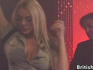 British Stripper Fucking At The Club