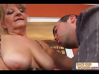 Grandma Takes It Hard On The Couch