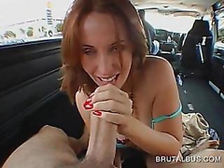 Hot Redhead Coating Massive Dick For A Deep Fuck