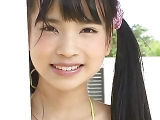 ange, bonasse, brunette, japonaise, doucement, Ados