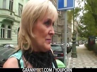 Old Granny Prostitute Rides Big Meat