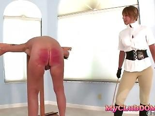 Domme Brianna Loves Whipping Old Man
