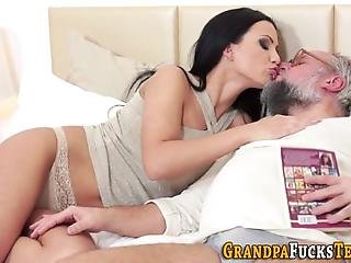 Busty Teen Cum Dumped After Getting Nailed By Grandpa