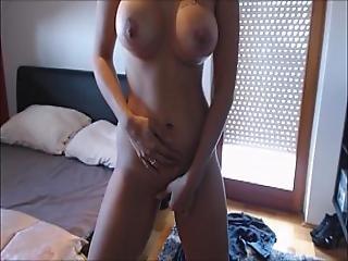 Hot Milf Stripping And Dildo Herself Till Orgasm