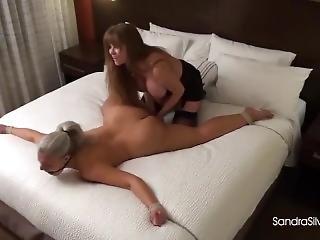 Sandra Silvers Strapon Bondage