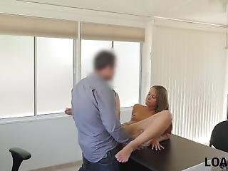 Loan4k. Perfect Teen Owned By Agent Because Needs Money For Trip
