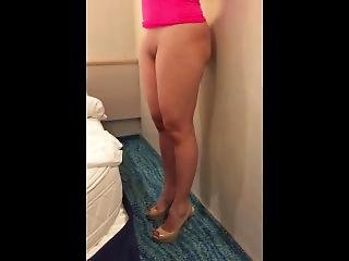 Busty Wife Bottomless In Vacation