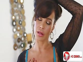 Lisa Ann Gets Her Throat Poked By A Hard Pole