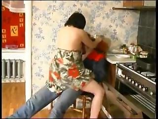 Mature Brunette Gets Nailed In Her Kitchen-watch More On Mam4.net
