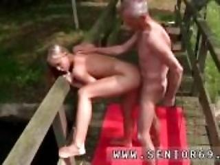 Huge old tits and old dude young girl first