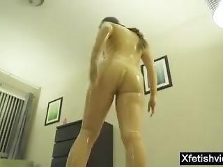 udklædt, fetish, latex