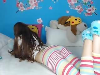 amatoriale, bambola, fetish, masturbazione, reality, calza, da sola, Adolescente, webcam