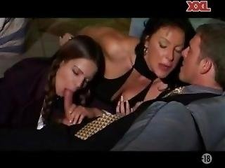 Ursula Smoking While Teen Slut Sucks
