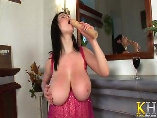 Karina Hart Plays With Her Massive Juggs