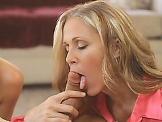 Sexy Blonde Housewife Introducing Sex With Step Daughter