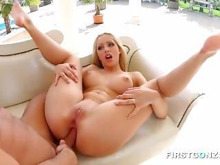 anal, arsch, luder, gross titte, blondine, granate, harter porno