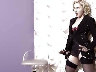 blonde, beroemdheid, milf