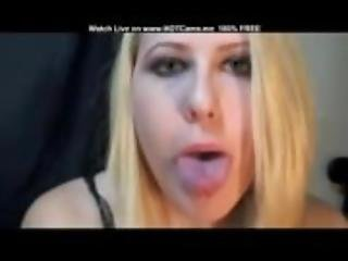 Blonde With Long Tongue