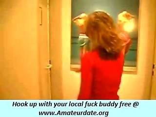 Crazy Risky Couple Make A Hell Of A Blowjob In A Public Hotel Bathroom Holy Fuck