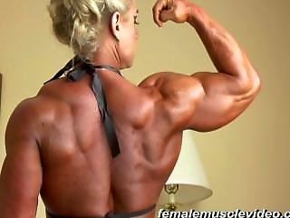 Smoking Hot Tina C Flexes Her Muscled Body