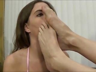 Mature Lesbian Mistress Has Young Girl Lick Her Feet And Sits On Her Face