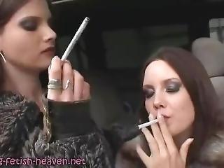 Black Rose And Miss J Smoking (js)