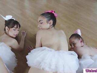chick, ballerina, pijp, brunette, deepthroat, doggystyle, neuken, hardcore, poes, Tiener