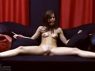 Little Caprice: Tied On Sofa