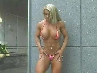 Classic Blonde Fbb Bikini Posing