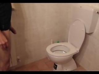 Fluolingerie Rough Toilet Fuck Flushes On Head Inside To