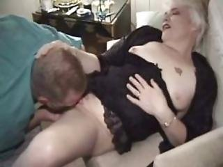 Aged Granny Nailed By Hairy Man