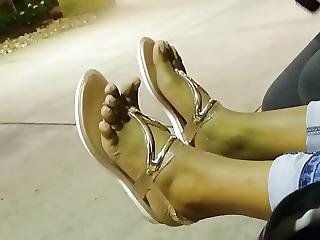 An Old Friends Candid Ebony Lightskin Toes