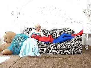 Spider Man Take Out His Sexual Frustration On Frozea Elsa And Friends!