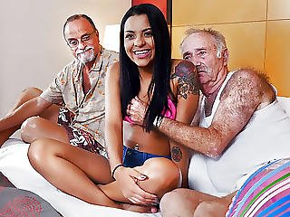 Latina Teen Nikki Kay Fucks Grandpas