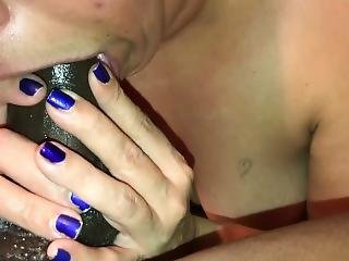 Wife Gives Epic Sloppy Messy Deepthroat And Ball Licking Blowjob!