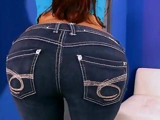 dupa, duży tyłek, dżinsy, dojrzała
