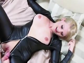 amateur, gross titte, blondine, blasen, catsuit, paar, deutsch, sex