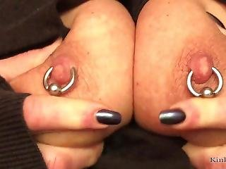 Kinkyfrida In Jeans Plays With Her Pierced And Tattooed Pussy