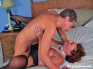 Mature Margo Rides Cock In A Pearl Necklace