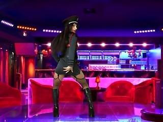 Lana Rey Officer Uniform Striptease